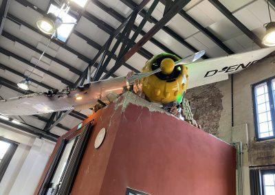 Cessna Bruchlandung in der ConCello Halle Bad Laer