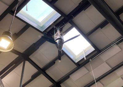Propeller als Deckenventilator in ConCello Halle Bad Laer